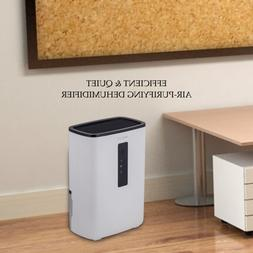 Ultra-Quiet Compact Dehumidifier with UV Light for Home, Bas