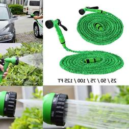 Expandable Flexible Water Hoses Pipe Watering Spray Gun for