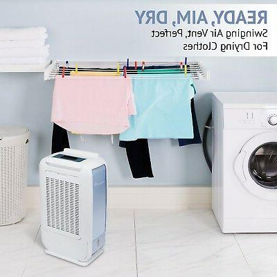 Ivation 13-Pint Small-Area Dehumidifier - With Co...
