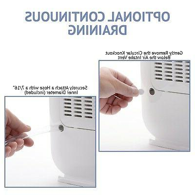 Ivation 13-Pint Desiccant Dehumidifier Compact - With