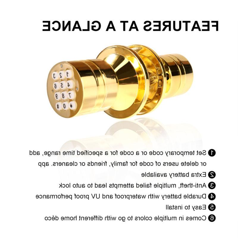Advanced Security Bluetooth Lock with Low Battery Golden