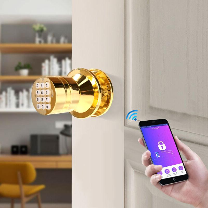 advanced security bluetooth smart lock with key
