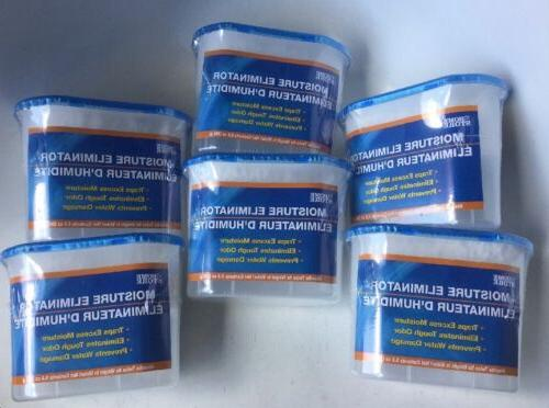 Lot of 6 Moisture Eliminator Home Store 9.8oz Containers
