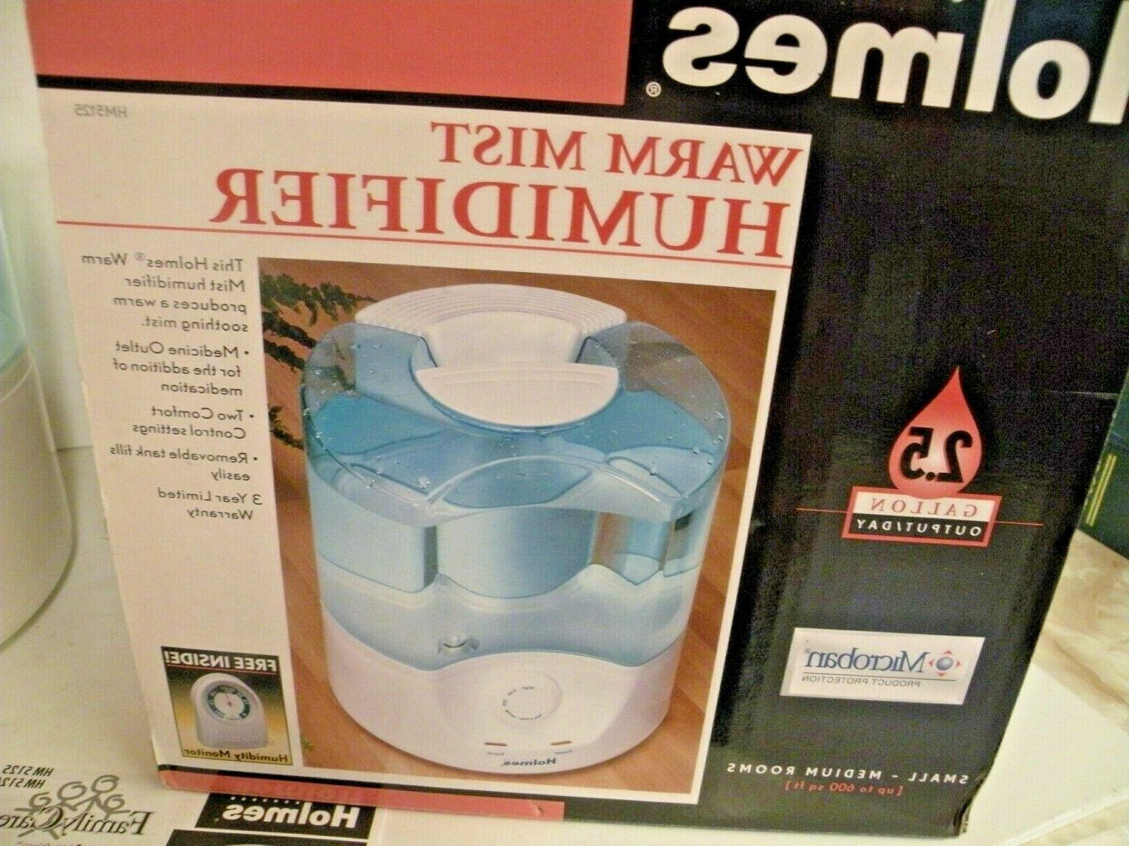 HOLMES WARM MIST HUMIDIFIER UP FT GALLONS OUTPUT NIB HM5125