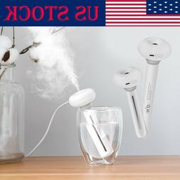 USB LED Donut Purifier Ultrasonic Aroma Diffuser Air Humidif